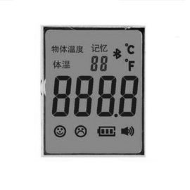 3.3V Infrared Thermometer TN LCD 7 Segment Display